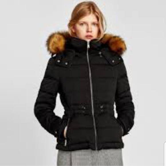 e8cd4d56 Zara Hooded Puffer Coat NWT